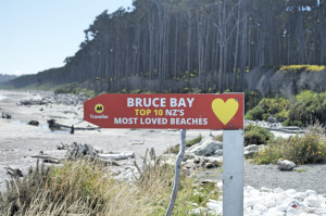 Schild Bruce Bay