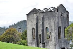 Pumphaus mit Förderturm