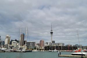 Skyline Auckland Hafen