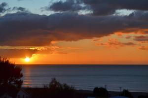 Sunrise tokumaru Bay