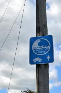 Tsunami Schild