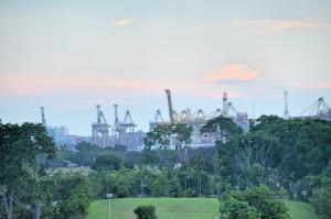 Blick auf Hafen Gardens