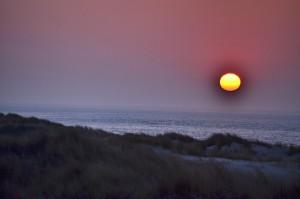 Sonnenuntergang Meer Dünen