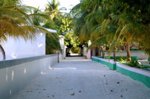 Strasse Einheimischen Insel